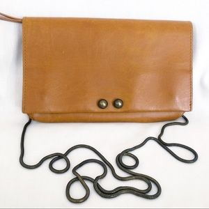 Free People brown faux leather crossbody bag purse